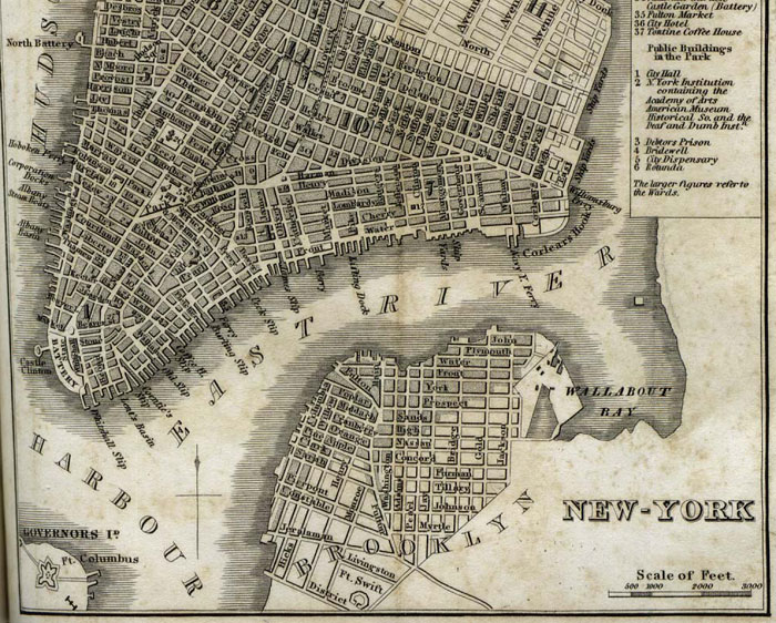 Old Map of South Street Seaport